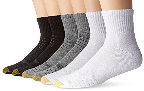 Gold Toe Mens Tech Quarter Socks (6 Pair Pack)
