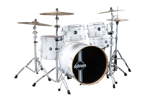 ddrum REFLEX WHT WHT 22 5 PC Reflex Standard 22 5-Piece Alder Drum Kit Shell Pack White on White ()