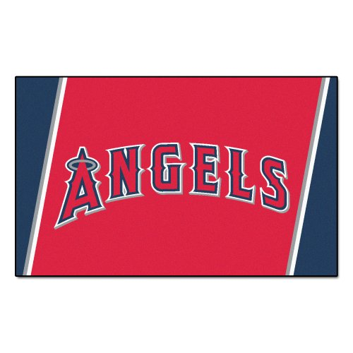 (FANMATS MLB Los Angeles Angels Nylon Face 4X6 Plush Rug)