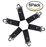 HIG Stroller Hook - 6 Pack of Multi Purpose Hooks - Hanger for Baby Diaper Bags, Groceries, Clothing, Purse (6 PCS)