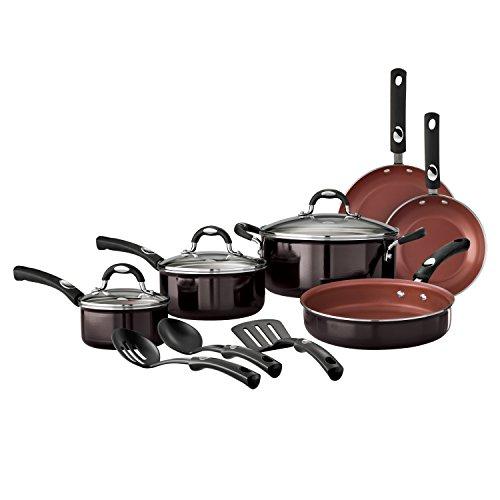 Tramontina 12-Piece Style Nonstick Cookware Set, Black Cherry ()