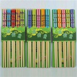 Exquisite Bambus Cartoon Craft Home Food Equipment Essstabchen Set