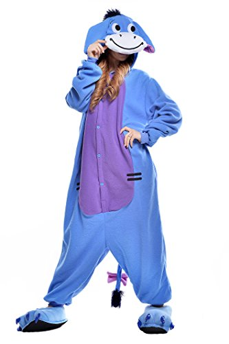 NEWCOSPLAY Halloween Unisex Adult Pajamas Cosplay Costumes (L, Donkey) -