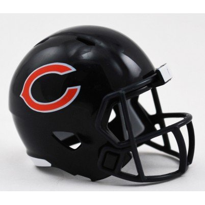 (Chicago Bears NFL Riddell Speed Pocket PRO Micro/Pocket-Size/Mini Football Helmet)