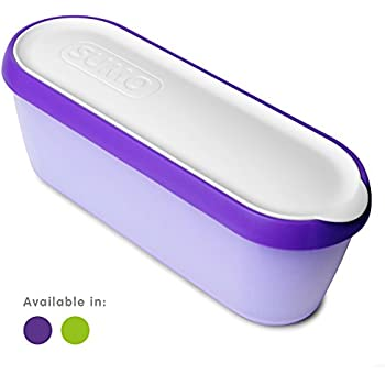SUMO Ice Cream Containers • Insulated Ice Cream Tub • Container Ideal for Homemade Ice-Cream, Gelato or Sorbet • Dishwasher Safe • 1.5 Quart Capacity • [Purple, 1-Pack]