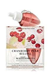 Bath Body Works Cranberry Pear Bellini Wallflowers Home Fragrance Refills 2 Bulbs