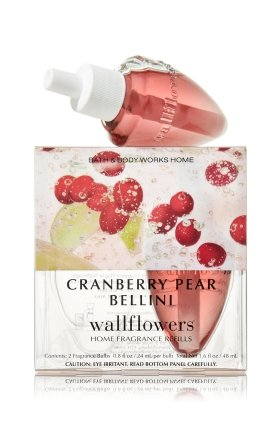 Bath Body Works Cranberry Pear Bellini Wallflowers Home Fragrance Refills 2 Bulbs by Bath & Body Works