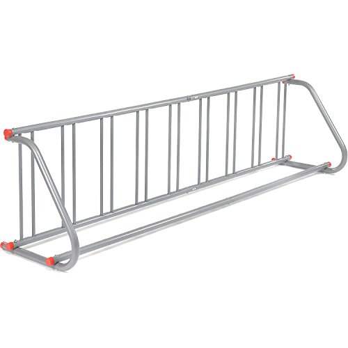 Saris All-Steel Grid Rack - 9 Bikes - Galvanized Finish With Riveted Grid Poles by Saris