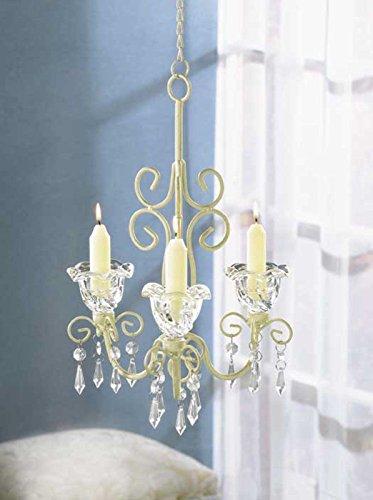 Shabby Elegance Scrollwork Candleholder Petite Chandelier Chic Decor - Crystal Petite Lamp Chandelier