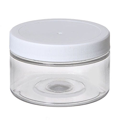 Grand Parfums 4 Oz Round PET Jar Low Profile Straight Sides - 70mm - Pack of 6 - 120mL Volume ()