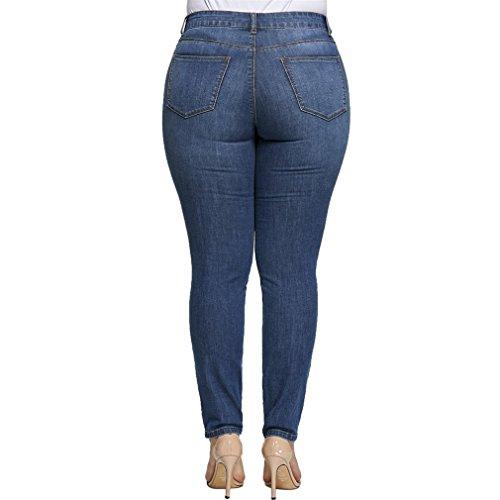 Denim Jeans para Mujeres Denim Skinny Slim Lápiz Jeans Jeans Waist Mid Blue Pants mujer Pantalones OtqwP