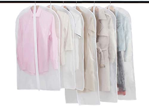 Fundas Ropa cremallera Bolsas Ropa Transparente Transpirables para Almacenaje de Traje Vestidos Abrigos Chaquetas Camisas 6PCS: Amazon.es: Hogar