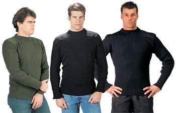 Rothco Acrylic Commando Sweater, Black, XX-Large