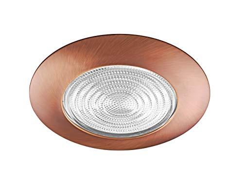 NICOR Lighting 6-Inch Lexan Shower Trim with Fresnel Lens, Bronze (17502BZ)