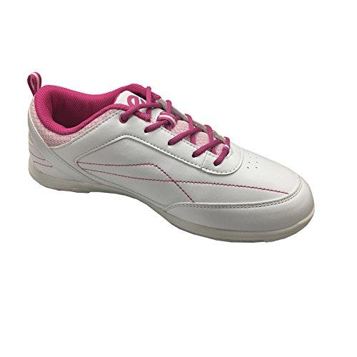 Eboniet Dames Witte / Roze Bowlingschoenen Van Milaan