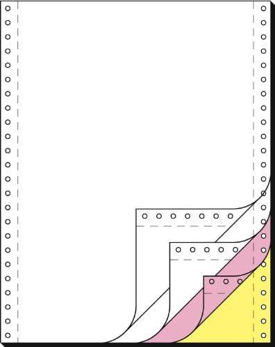 SIGEL 33244 Endlospapier 12 Zoll x 240 mm (A4 hoch), 60/53/57 g, 500 Sätze 4fach