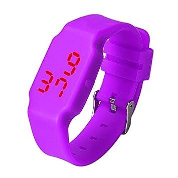 WMWMY Relojes Mujer Mujer Venta Caliente Hombres Mujeres Multifunción de Silicona Relojes Digitales Relojes Deportivos LED