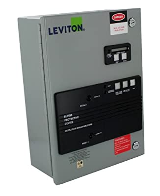 Leviton 52120-CM2 120/240V AC Single-Phase 3-Wire and Ground, Home Automation Model with Surge Counter