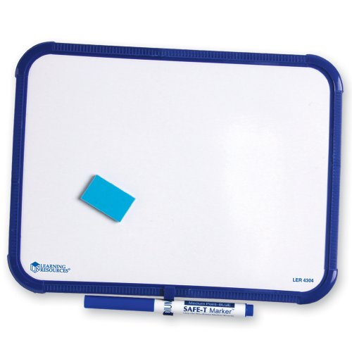 Single Sided Dry Erase Framed - Learning Resources Single-Sided Dry-Erase Framed Board Set with Marker and Eraser