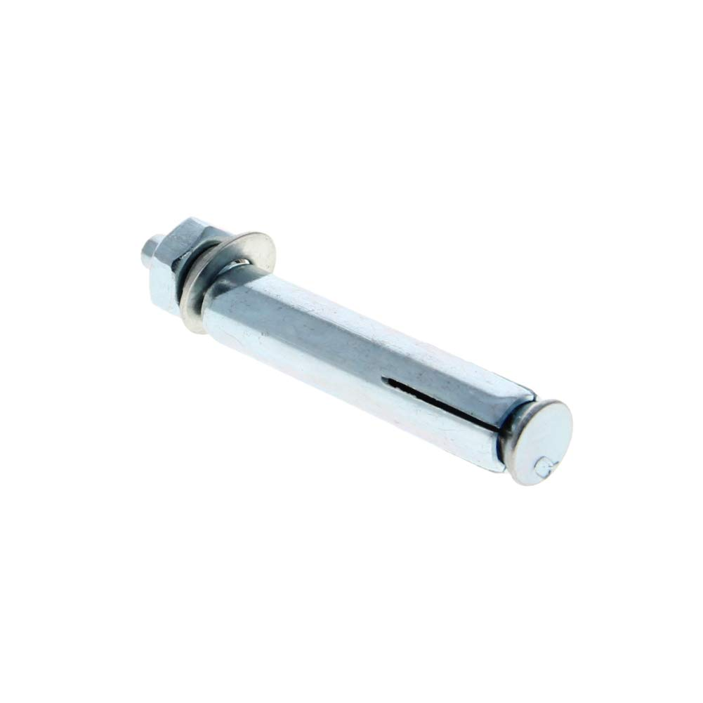 MroMax M8 x 60mm Sleeve Anchors Hex Nut Expansion Bolts Screws Carbon Steel Zinc Plated 3Pcs