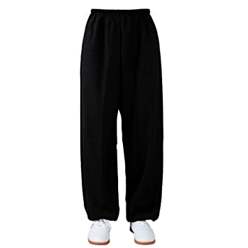 XLYAN Pantalones Tai Chi Holgados Pilates Danza Yoga Algodón ...