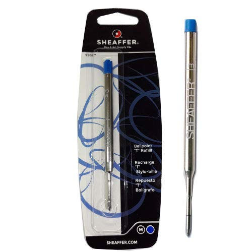 (Sheaffer T Ballpoint Refill, Blue Ink, Medium Point, Single Blister Pack (99327))