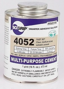 Weld-On 4052 Solvent Cement - Pint by Weldon