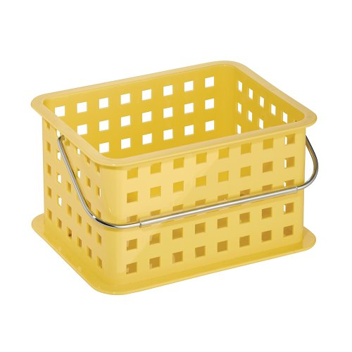 InterDesign Storage Organizer Basket, for Bathroom, Health and Beauty Products - Small, Yellow