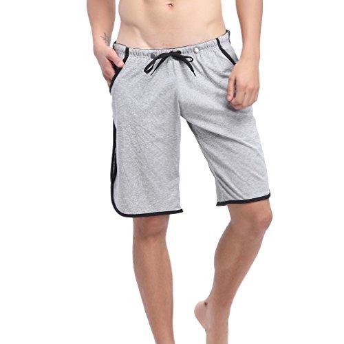 Honghu Side-Stripe Swim Boxers Homme Size M Gris