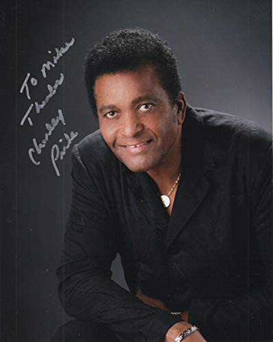 CHARLEY PRIDE HAND SIGNED 8x10 COLOR PHOTO+COA COUNTRY LEGEND TO MIKE