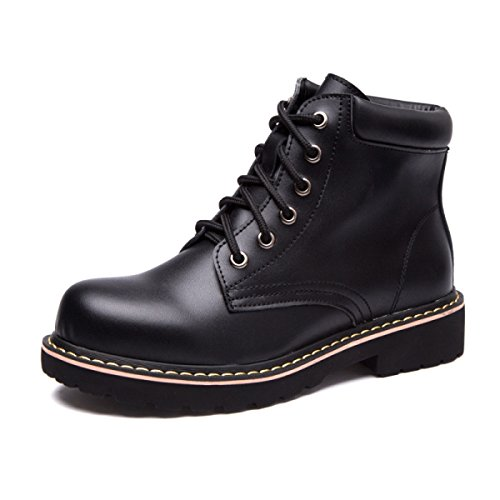 Black Leather England Boots Boots Ladies Boots Flat Boots New Motorcycle Lace Martin Female And Retro Winter Autumn Fashion xSw0qY1TY