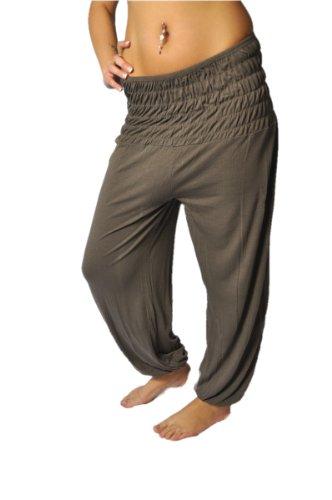 Accesorio para mujer pantalones de harén Aladin y en talla universal Pluderhose marrón claro