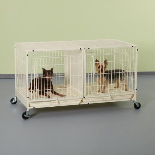 (ProSelect Steel Modular Pet Cage with Plastic Tray, Ivory)