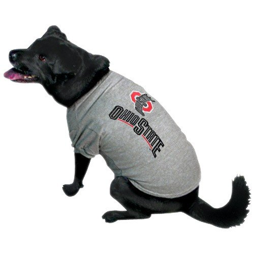 Team Pet T-shirt (NCAA Ohio State Buckeyes Pet T-Shirt, X-Large, Team Color)