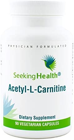 Acetyl-L-Carnitine 500 mg 90 Vegetarian Capsules Seeking Health