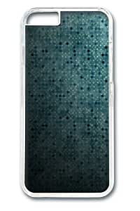 Blue Dots Abstract PC Case Cover for iphone 6 plus 5.5 inch Transparent