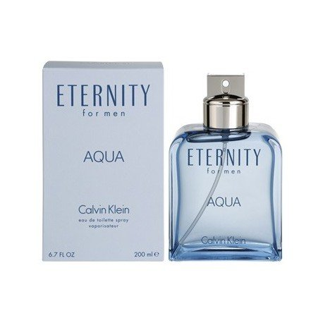 Eternity Aqua for men 6.7 fl Oz EDT Spray + a Free Lip Balm