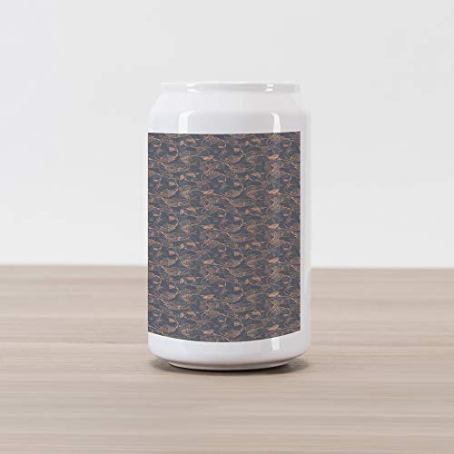 - Ambesonne Vine Cola Can Shape Piggy Bank, Abstract Pink Shade Grapevine Leaves Intertwined Delicate Branches Print, Ceramic Cola Shaped Coin Box Money Bank for Cash Saving, Peach Pale Grey and Grey