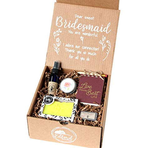 Wildflower Bridesmaid Gift All-Natural Kraft 'for You' Gift Box Includes Collection of Bath & Body Products Organic Beauty Wedding Favor