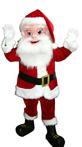 Santa Claus Mascot Costume Party Character Christmas Halloween PAPA Noel Suit -