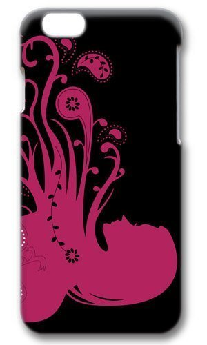 Abstract Psychedelic Girl Pink Thanksgiving Easter Masterpiece Limited Design PC Black 3D Case for iphone 6 by Cases & Mouse Pads 220mm*180mm*3mm
