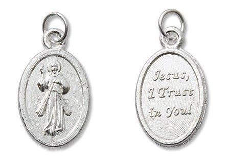 Catholic & Religious Divine Mercy Mini Devotional Medal - 100/pk