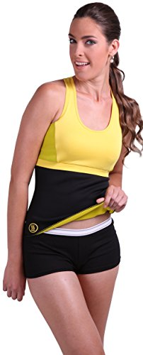 Slim Abs Premium Waist Trimmer Belt (L/XL) - Hot Sauna and Belt for Men and Women - Body Shaper Designed To Generate and Absorb Sweet Sweat - Shapers Unique Compression Promotes Weight Loss and Burns Fat