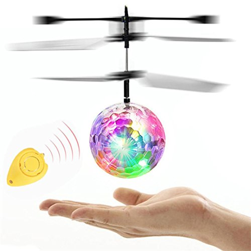 DORIC RC Helicopter Ball Mini Aircraft Flashing Light Remote Toys For Kids