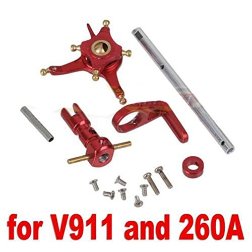 Hobbypower CNC Alloy Metal Upgrade Set for 2.4g Wl V911 Nine Eagles 260a Micro Helicopter Red - http://coolthings.us