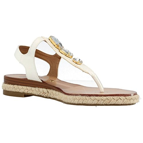 Sandalias y chanclas para mujer, color Blanco , marca YELLOW SHOP, modelo Sandalias Y Chanclas Para Mujer YELLOW SHOP JR PIUMA BALLERINE Blanco Blanco