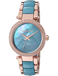 Michael Kors Womens Quartz Stainless Steel Casual Watch, Color:Rose Gold-Toned (Model: MK6491)