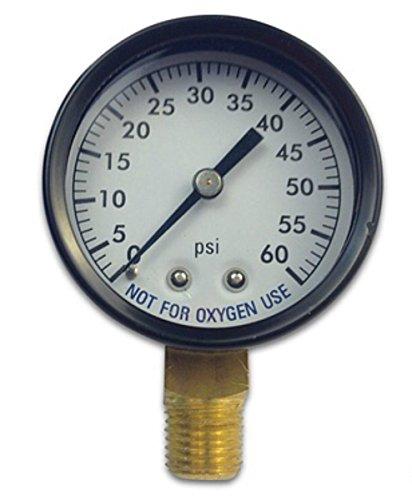 lter Pressure Gauge w/Steel Housing 0-60 psi 1/4