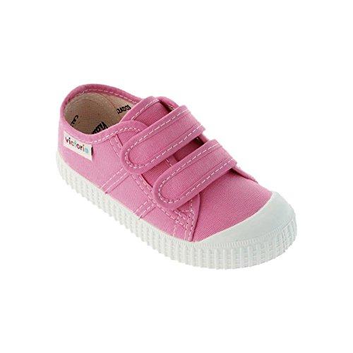 Victoria Basket Lona Dos Velcros - Zapatillas Unisex Niños Chicle