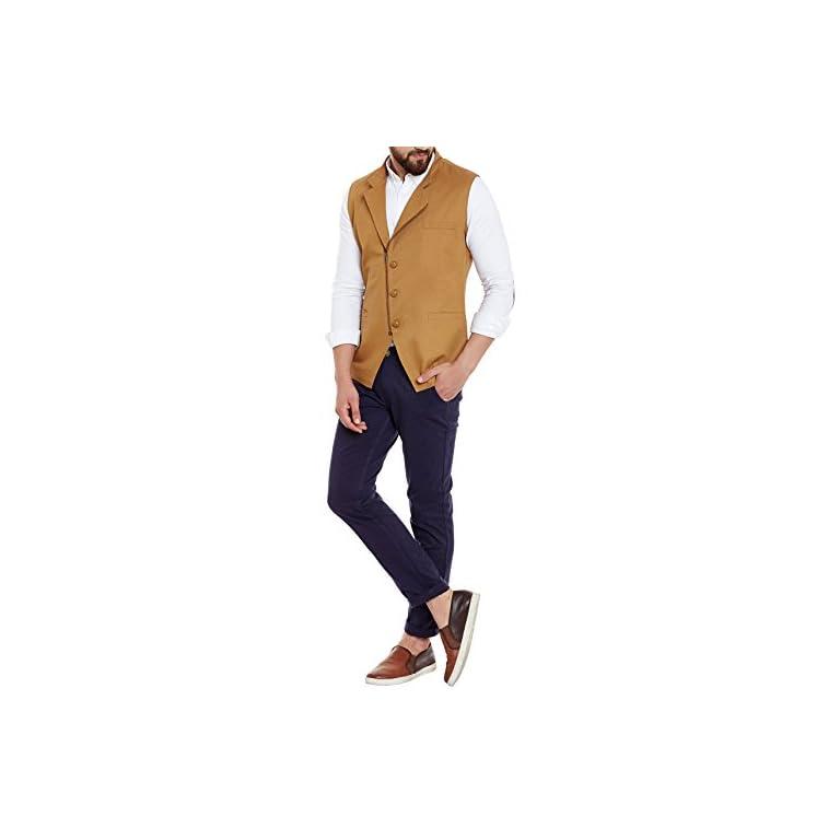 414yykklZjL. SS768  - HYPERNATION Men's Nehru Jacket Waistcoat